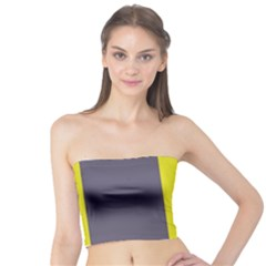 Blue and yellow lines Tube Top