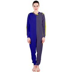 Blue and yellow lines OnePiece Jumpsuit (Ladies)