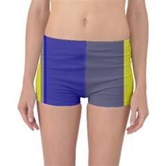 Blue and yellow lines Boyleg Bikini Bottoms