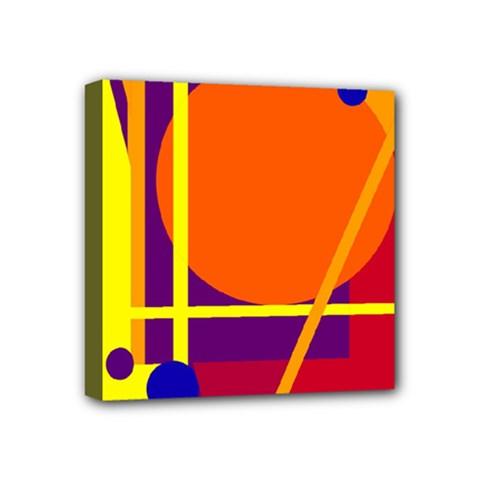 Orange abstract design Mini Canvas 4  x 4