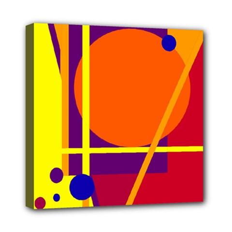 Orange abstract design Mini Canvas 8  x 8