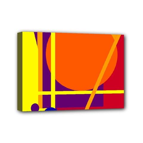 Orange abstract design Mini Canvas 7  x 5