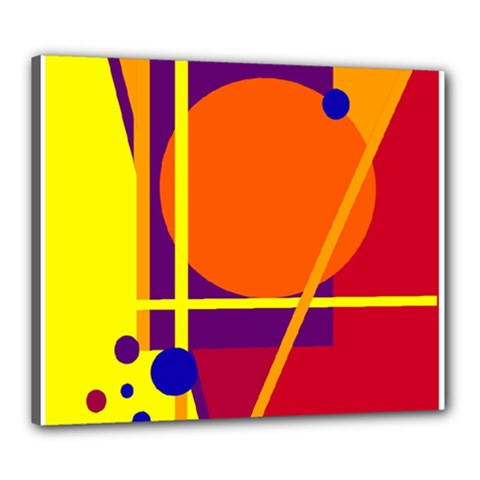 Orange abstract design Canvas 24  x 20