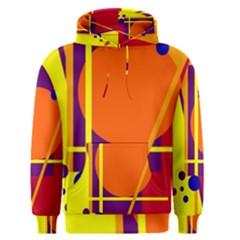 Orange abstract design Men s Pullover Hoodie