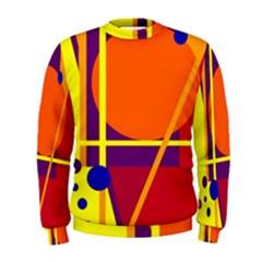 Orange abstract design Men s Sweatshirt