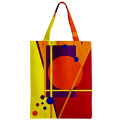 Orange abstract design Zipper Classic Tote Bag