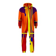 Orange abstract design Hooded Jumpsuit (Kids)