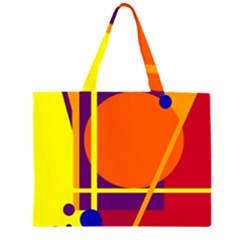 Orange abstract design Large Tote Bag