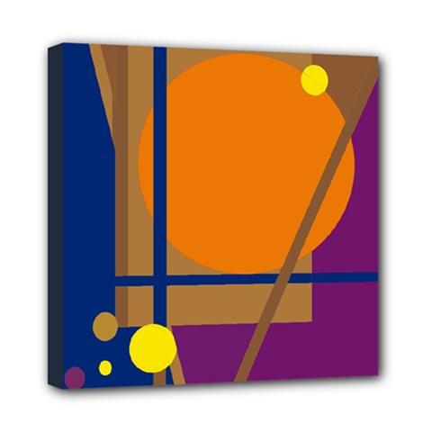 Decorative abstract design Mini Canvas 8  x 8