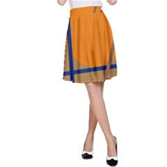 Decorative abstract design A-Line Skirt
