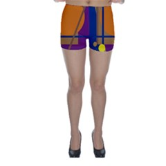 Decorative abstract design Skinny Shorts