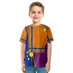 Decorative abstract design Kid s Sport Mesh Tee