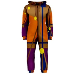 Decorative abstract design Hooded Jumpsuit (Ladies)