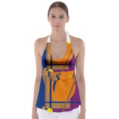 Decorative abstract design Babydoll Tankini Top