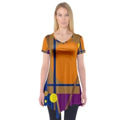 Decorative abstract design Short Sleeve Tunic