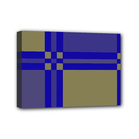 Blue design Mini Canvas 7  x 5