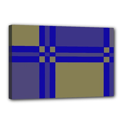 Blue design Canvas 18  x 12