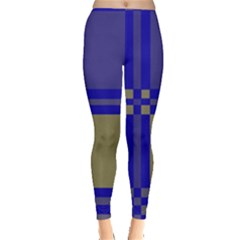 Blue design Leggings