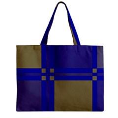 Blue design Zipper Mini Tote Bag