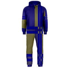 Blue design Hooded Jumpsuit (Men)