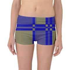 Blue design Boyleg Bikini Bottoms