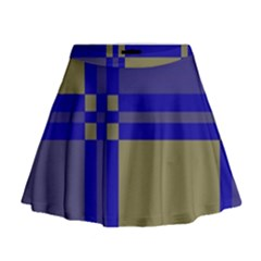 Blue Design Mini Flare Skirt