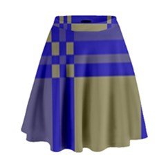 Blue Design High Waist Skirt