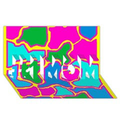Colorful abstract design #1 MOM 3D Greeting Cards (8x4)