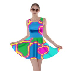 Colorful abstract design Skater Dress