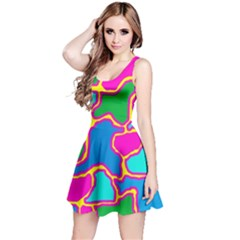 Colorful abstract design Reversible Sleeveless Dress