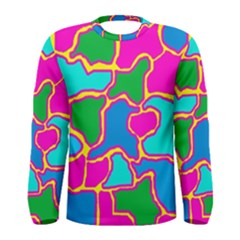 Colorful abstract design Men s Long Sleeve Tee