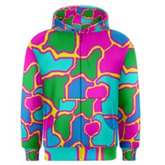 Colorful abstract design Men s Zipper Hoodie