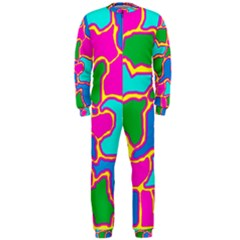 Colorful abstract design OnePiece Jumpsuit (Men)