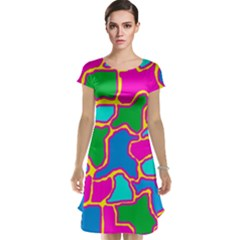 Colorful abstract design Cap Sleeve Nightdress