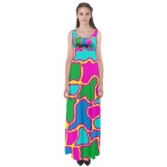 Colorful abstract design Empire Waist Maxi Dress