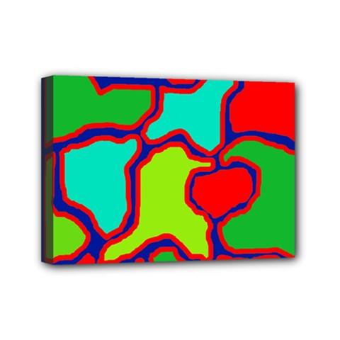 Colorful abstract design Mini Canvas 7  x 5