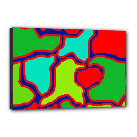 Colorful abstract design Canvas 18  x 12