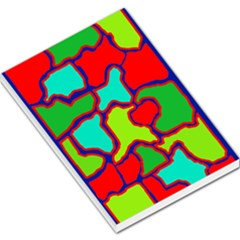Colorful abstract design Large Memo Pads