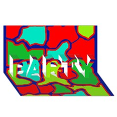 Colorful abstract design PARTY 3D Greeting Card (8x4)