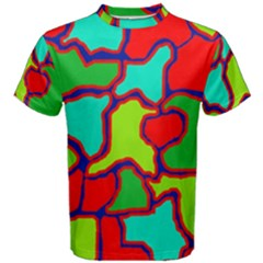 Colorful abstract design Men s Cotton Tee