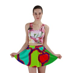 Colorful abstract design Mini Skirt