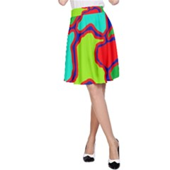 Colorful abstract design A-Line Skirt
