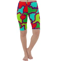Colorful abstract design Cropped Leggings