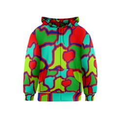 Colorful abstract design Kids  Zipper Hoodie