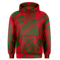 Red and green abstract design Men s Pullover Hoodie