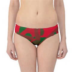 Red and green abstract design Hipster Bikini Bottoms
