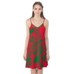 Red and green abstract design Camis Nightgown