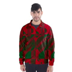 Red and green abstract design Wind Breaker (Men)