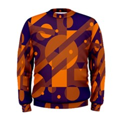 Blue and orange abstract design Men s Sweatshirt