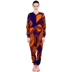 Blue and orange abstract design OnePiece Jumpsuit (Ladies)